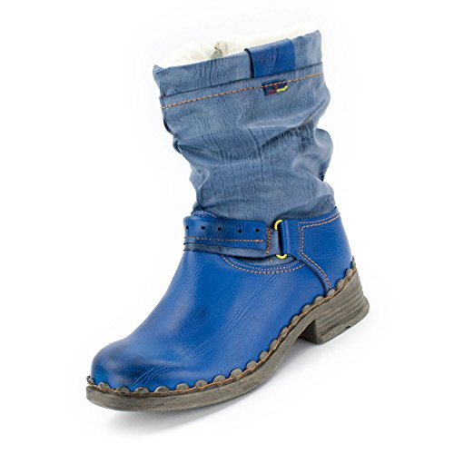 TMA Winter-Stiefel, Jeans-Blau - 40 (Winter Stiefel Frauen Größe 7)