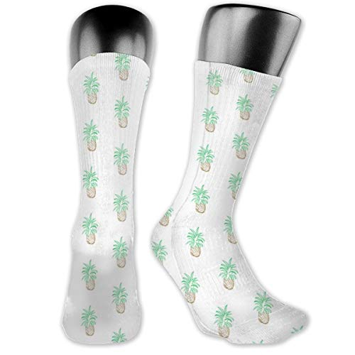 MZZhuBao Ananas - Pineapple Men's & Womens Athletic Crew Socks Running Gym Compression Foot (Crazy Cat Lady Kostüm Party)