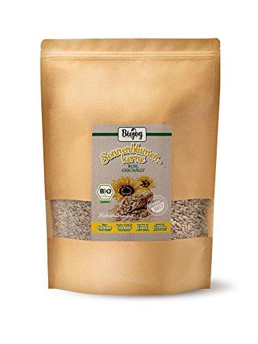 BIO-Sonnenblumenkerne geschält | Kerne für Salat-Mix & Desserts, zum Brot-Backen und Knabbern | ohne Schale, naturbelassen & ungesalzen | ohne Zusätze in Rohkost-Qualität (1,5 kg)