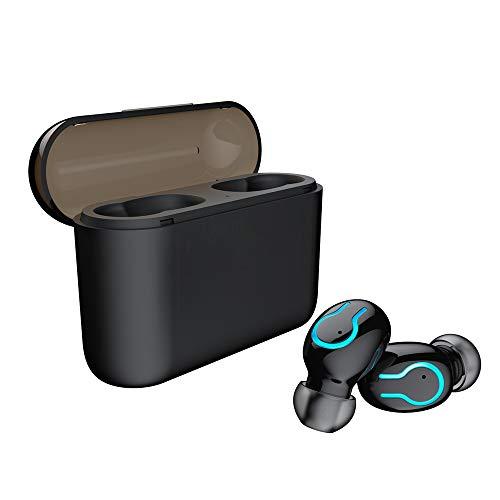 DANGSHUO TWS audífonos inalámbricos Bluetooth 5.0 con Funda de Carga inalámbrica CVC6.0 cancelación de Ruido