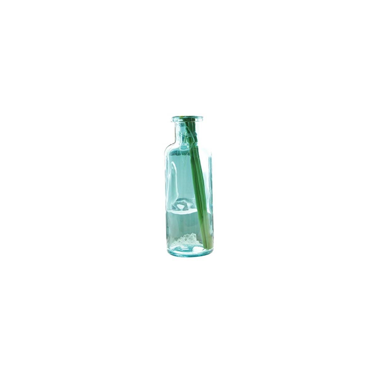 41beCbmbJwL. SS1200  - Outflower 1PC Azul Jarrón de Vidrio de Color Jarrón de Vidrio cilíndrico Florero de Vidrio Transparente Decoración del hogar Floreros,22 * 7.5cm