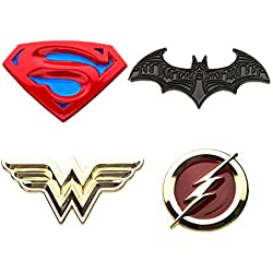 DC Comics Collectors Pins 4-Pack Justice League Sales Brooches