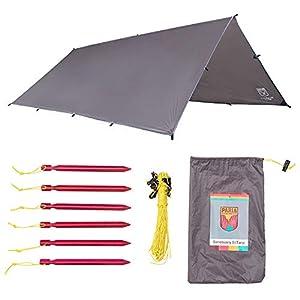 Paria Outdoor Products Sanctuary SilTarp – Ultraleichte und wasserdichte Ripstop-Silnylon-Plane, Abspannleine und…