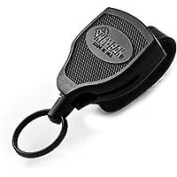 Key-BAK KB Super 48 LEK Schlüsselrolle Kevlarseil bis 25 Schlüssel mit Lederschlaufe schwarz, KB Super 48 LEK