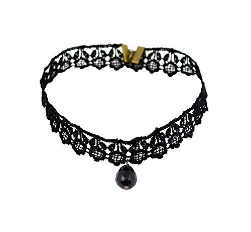 Bellofox zara Designer Black Lace Choker Necklace Statement Jewelry For Women & Girls / Bollywood Fashion Jewelry  available at amazon for Rs.249
