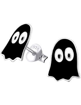 So Chic Schmuck - Pacman Ghost Ohrringe Schwarz Sterling Silber 925