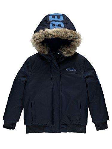 Bench Jungen Jacke Hooded Fur Bomber, Blau (Dark Navy Blue Ny031), 176 (Herstellergröße:15-16)