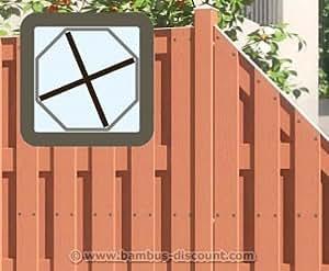 Zaunpfosten WPC bangkirai, 8,4x8,4x200cm - Sichtschutz, Sichtschutz Elemente, Sichtschutzwand, Windschutz