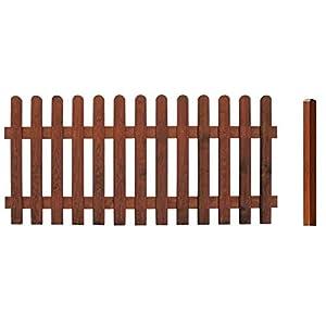 CERLAND Vigo Braun Zaunserie Sichtschutz Zaun Schutzzaun Gartenzaun 7,32m *NEU*