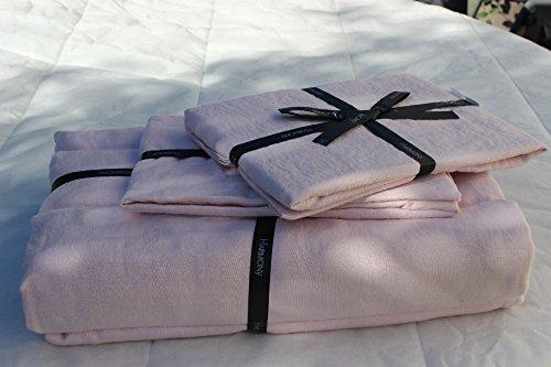 Harmony - Housse de couette en lin lavé Viti - 100% lin stone wash - Poudre - 260x240 cm