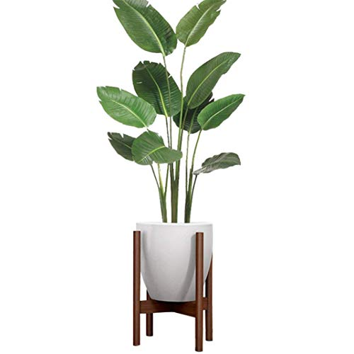 Lulalula plant stand mid century modern portavaso in legno di faggio display rack stands interni esterni planter (fino a 21cm-colore non incluso), walnut color, diameter=8.27 inch