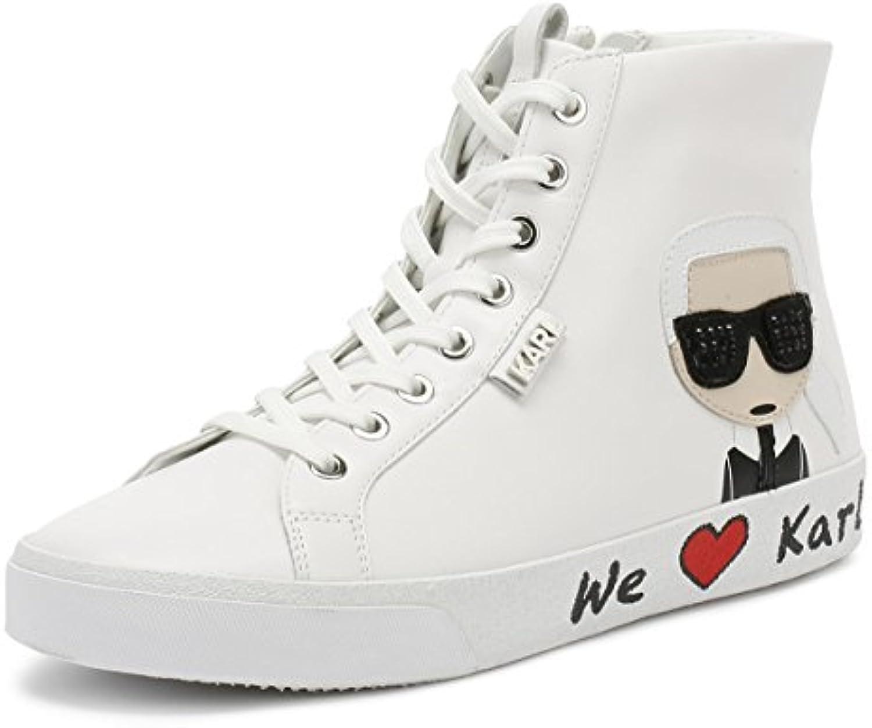 Karl Lagerfeld Skool Skool Skool Karl Ikonic Hi Lace Blanc Femmes Basket 4883c4