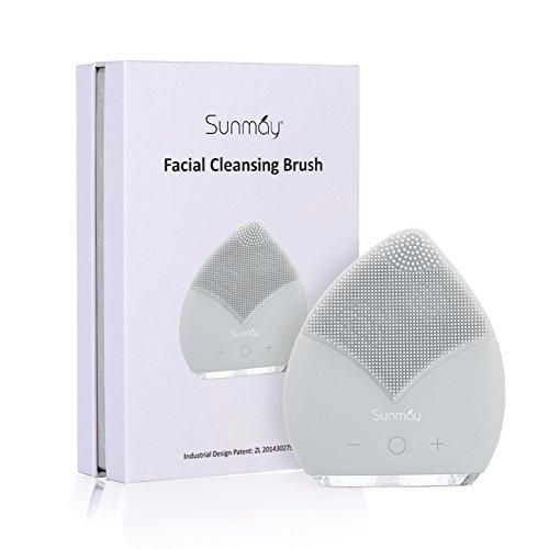 SUNMAY Gesichtsreinigungsbürste Silikon, Anti-Aging Gesichtsmassagegerät Elektrische, Wiederaufladbar Massagebürste Wasserdicht Exfoliator Pickel Entferner