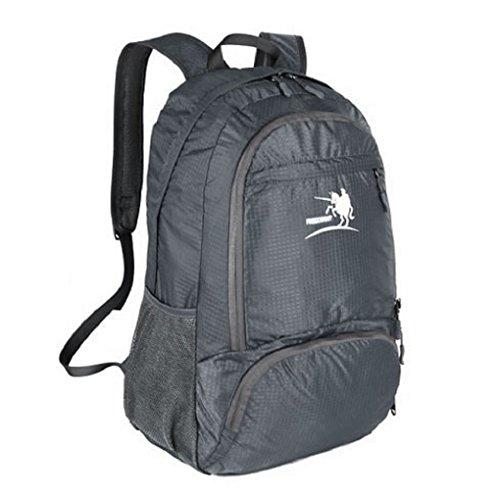 35L Wasserdicht faltbarer Rucksack Daypack Rucksack-Backpack Leichter Tagesrucksack Tasche für alle Männer Frauen und Kinder für Outdoor Wandern Camping Reisen Braun