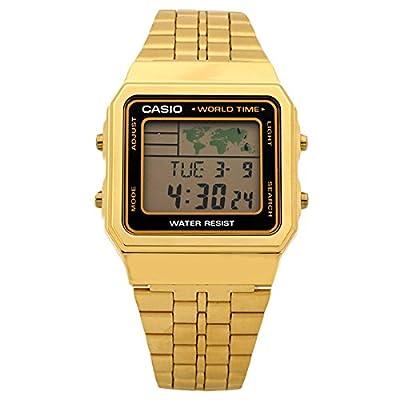 CASIO A500WGA-1 - Reloj digital, para hombre, color dorado de CASIO