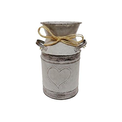 Watering Honey - Cántaro de leche galvanizado de estilo antiguo, de 1