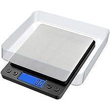 Uchrolls Báscula Digital para Cocina, 3Kg/0.1g Bascula Cocina Electrónicas con pantalla LCD