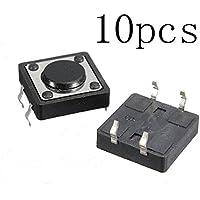 SODIAL(R) 10 x Mini Interruptor de Boton PCB Tactil Momentaneo SPST