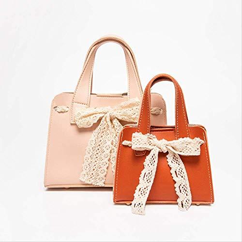 Handtasche Spitze Bogen Umhängetasche Kettenriemen MädchenPulver Sowie Orange -