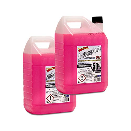 PETROLINE ORGANIC ANTIFREEZE 50% Rosa 5 liters Pack 2 Bottles