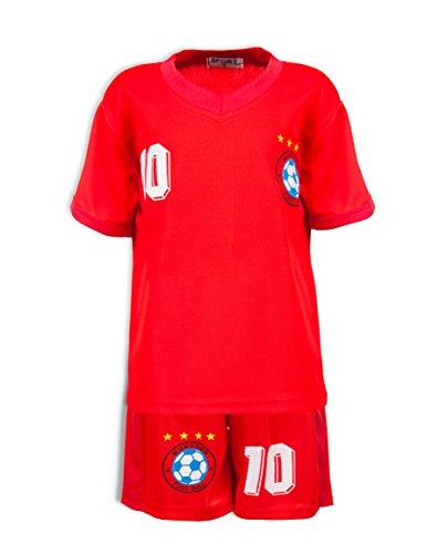 24brands - Jungen Fußball Set 2 Teilig Trainings Trikot Deutschland Italien Brasilien Spanien Türkei Schweiz Ländertrikot - 2630, Größe:140;Farbe:München
