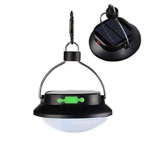 Solar Camping Laterne Lampe Portable LED Outdoor Licht 12LED 3 Beleuchtung Modus USB wiederaufladbare Zelt Hängeleuchte für Handy Lade wasserdicht für Wandern Angeln Wandern Camping Sonnenschirm Auto -
