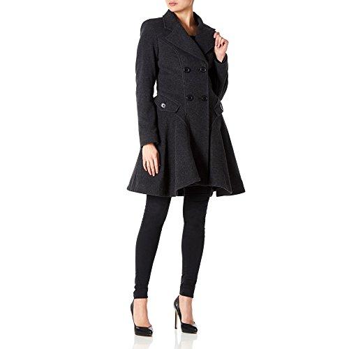 LA CREME - Donna Lana e cashmere giacca da donna invernali a doppio petto Flary Giacca Carbone