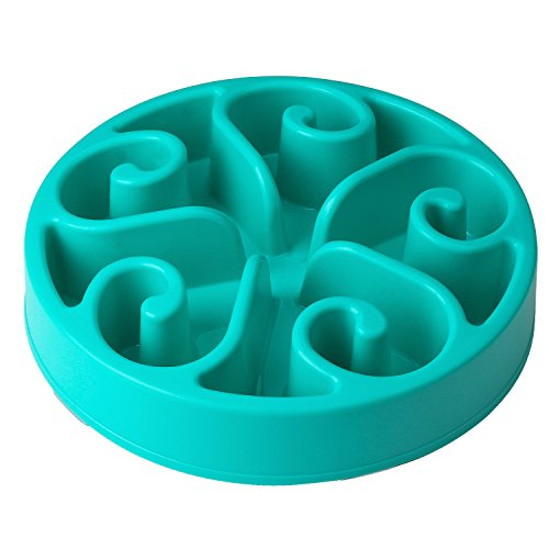 Decyam-Pet-Fun-Feeder-Dog-Bowl-Slow-Feeder-Bloat-Stop-Dog-Food-Bowl-Maze-Interactive-Puzzle-Cat-Bowl-Non-Skid-BLUE