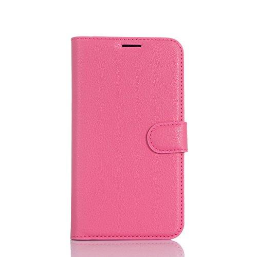Kihying Hülle für Asus Zenfone Go TV ZB551KL Hülle Schutzhülle PU Leder Flip Wallet Fashion Geschäft HandyHülle (Rose rot - JFC05)