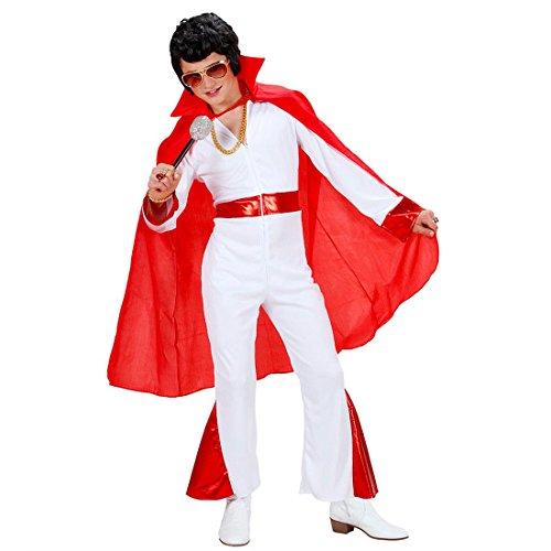 Amakando Elvis Umhang Teufel Cape rot Satan Umhangmantel Vampir Mantel Superheld Poncho Halloween (Elvis Halloween)