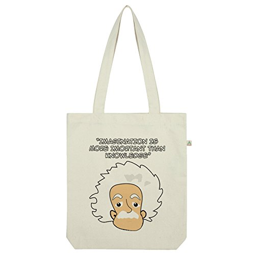TWISTED ENVY Albert Einstein Imagination Tasche Weiß weiß