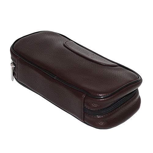 EEKUY Tragbare Tabaktasche, Leder Tabak Feuchtigkeitsspendende Tasche Handrolle Tabak Aufbewahrungstasche 6.7X3.5X2.4 ''