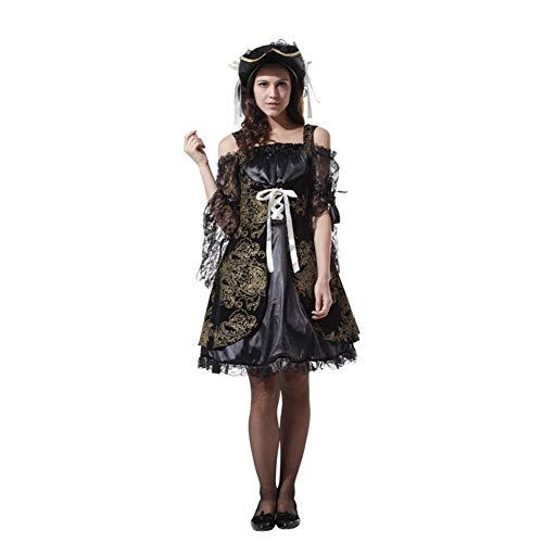 MTSBW Halloween Kostüm Piraten Paar Cosplay Männlichen und Weiblichen Erwachsenen Prom Party Outdoor Horror,Women (Womens Aufblasbare Puppe Für Erwachsene Kostüm)