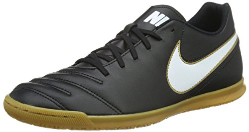 Nike Tiempox Rio Iii Ic, Chaussures de Football Homme Black (Black/White-Metallic GoldBlack/White-Metallic Gold)