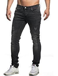 TAZZIO Slim Fit Herren Destroyed Look Stretch Jeans Hose Denim 16525