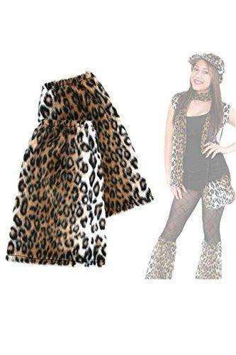 FASCHING 56666 Bein-Stulpen Leopard Leo Plüsch NEU/OVP (Bein Leopard)