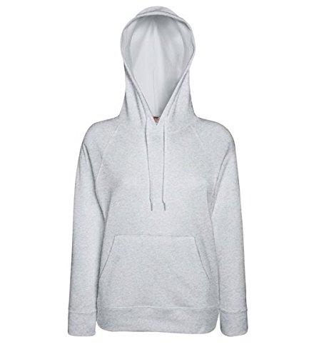 Fruit of the Loom Damen Kapuzenpullover Lightweight Hooded Sweat Lady-Fit Light Graphite