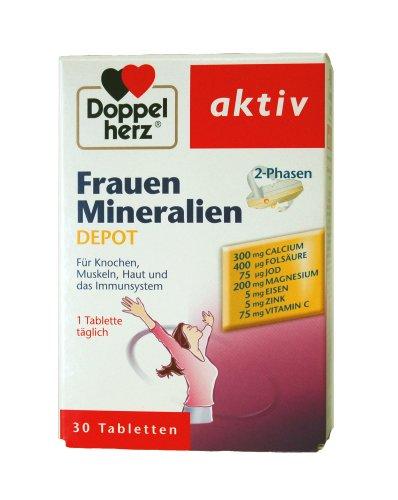 Doppelherz Frauen Mineralien 2-Phasen Depot, Tabletten, 2er Pack (2 x 30 Stück)