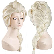 Disney Movies Princess Frozen Snow Queen Elsa Cosplay Wig Elsa Wig w/ a Free Cap by Generic