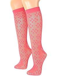 Damen Netzkniestrümpfe mit Muster 30 DEN