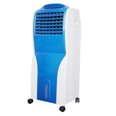 Bajo Consumo 3 Velocidades Climatizador Silencioso y F/ácil de Usar Verde 65W Climatizador port/átil evaporativo 3 en 1 Esterilizador de Aire Humidificador y Purificador