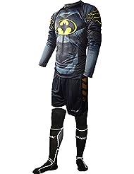 Rinat Kit Egotiko - Conjunto de portero, Unisex, Negro / Amarillo, talla XL