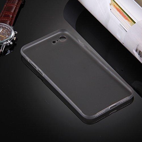 iPhone Case Cover Pour iPhone 7 Frosted Transparent Housse de protection arrière ( Color : Grey ) Grey