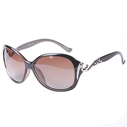 DaoRier dunkle Linse Eyeware mit Sonnenbrille, Unisex, mit 100% UV-Schutz, Polykarbonat, Cafe, 140 * 55 * 125 MM