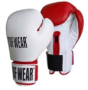 Tuf-Wear Combi Gym sécurité gant de boxe - Rouge & Blanc, 10oz