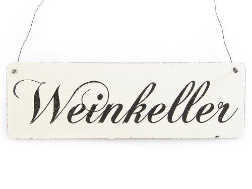 Vintage Deko Schild Türschild WEINKELLER Shabby Nostalgie Landhaus Holz weiß