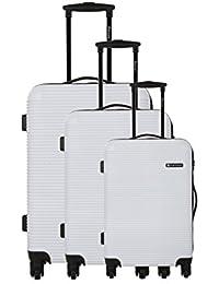 Platinium Set de 3 trolleys rígidos Chester Blanco