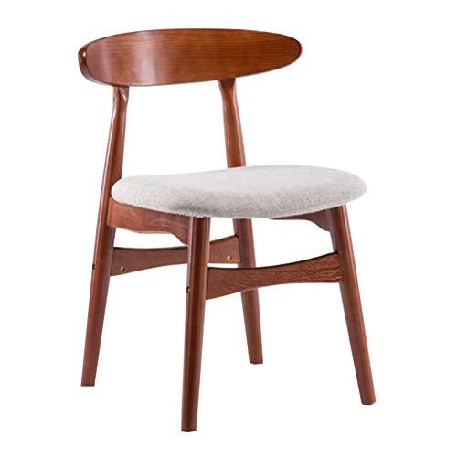 WYYY Bürostuhl Massivholz Essensstuhl Schreibtischstuhl Modernes Zuhause Holzstuhl Büro Computer Stuhl Geschwungene Rückenlehne Durable stark (Color : Light Gray, Size : Walnut Color) -