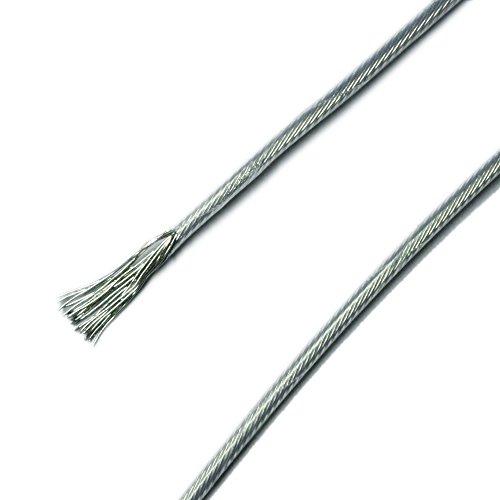 PTFE Anschlusskabel 12V Litze flex transparent 250°C 1,5qmm - 3 Meter