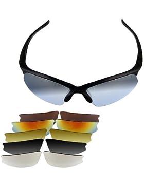 TOOGOO(R) - Gafas deportivas de protección UV 400 con 6pares de lentes